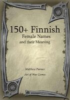 150+  Female Finnish Names and Their Meaning