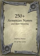 250+  Armenian Names and Their Meaning