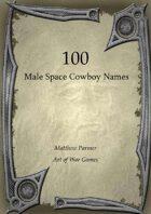 100 Male Space Cowboy Names