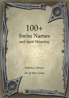 100+  Swiss Names and Their Meaning