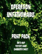 Operation Unfathomable Map & Char Sheet