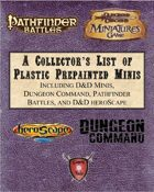 A Collector's List of Plastic Prepainted Minis