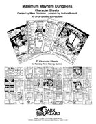 1st Edition Style Fantasy Character Sheets 27 Pack