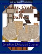 Chests, Crates, and Barrels Collection: Medium Driftwood Crates
