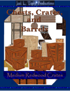 Chests, Crates, and Barrels Collection: Medium Redwood Crates
