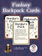 5E Fantasy Backpack Cards