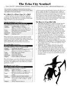 Echo City Sentinel Issue 1