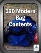 120 Modern Bag Contents