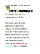 Hotel Manager 4 Players Edition