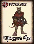 Stock Art: Opossum Man