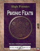 High Psionics: Psionic Feats