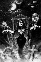 Plan 9 Vampira Art Poster by Scott Jackson