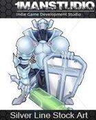 Stock Art - White Knight / Science-Fantasy