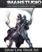 Stock Art - Black Cyber Knight / Science-Fantasy
