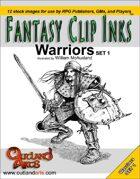 Fantasy Clip Inks :: Warriors set 1