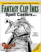 Fantasy Clip Inks:: Spell Casters set 1
