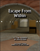 Escape From Within - 1 Page Adventure + Map (OSW)