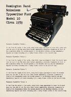 Remington Typewriter Font: TTF Font File