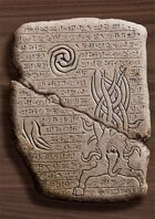 Ancient Cthulhu Cuneiform Tablet I - Dark Young of Shub-Niggurath (Horror RPG Prop Handout)
