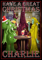 Personalised Cthulhu Christmas Card