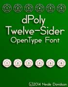 dPoly Twelve-Sider OpenType Font