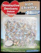 Diminutive Denizens Deluxe: Iron Chivalry Minis Pack