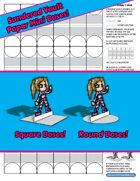 Printable Mini Bases - Paper Power!