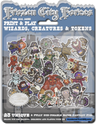 Frozen City Forces 2 - Wizards & Creatures & Tokens - 23 unique Minis for Frostgrave and More!