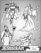 -JEStockPack- Fantasy - Female Adventurers 01