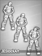 JEStockArt - SciFi - Sketchy Scifi Female Pack - LNB