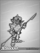 JEStockArt - Fantasy - Fierce Goblin in Armor with Spear - GNB