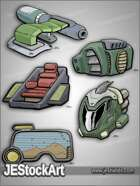 -JEStockPack- SciFi - Mech Equipment Pack 01