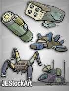 -JEStockPack- SciFi - Mech Equipment Pack 03