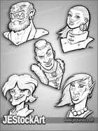 PWYW JEStockArt - Fantasy Character Portraits