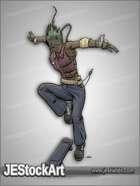 JEStockArt - SciFi - Cyberpunk Skateboarder - CNB
