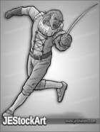 JEStockArt - Fantasy - Elven Renaissance Fencer - GNB