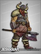 JEStockArt - Fantasy - Bloodied Viking with Axe - CNB