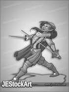 JEStockArt - Fantasy - Halfling Renaissance Sword Fighter - GNB