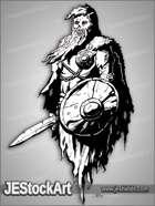 JEStockArt - Fantasy - Barrow Wight With Sword And Shield - INB