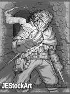JEStockArt - Fantasy - Alchemist in Ancient Halls - GWB