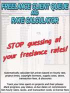 Freelance Client Queue & Rate Calculator