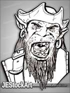PWYW JEStockArt - Fantasy - Orc Pirate Shouting Orders