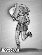 JEStockArt - Fantasy - Elven Torch Runner - GNB