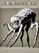 JEStockArt - SciFi - Spindly Six Legged Beast With Fangs - INB