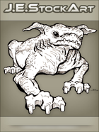 JEStockArt - Fantasy - Wrinkled Pug Beast With Floppy Ears - LNB