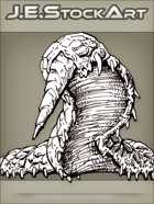 JEStockArt - Fantasy - Burrowing Worm With Spiked Horn - LNB