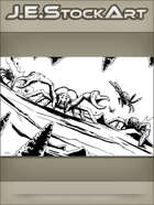 JEStockArt - Fantasy - Spider Monsters With Pincers In Cavern - IWB
