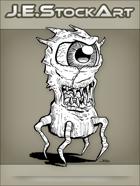 JEStockArt - Fantasy -  One Eyed Creature With Legs - LNB