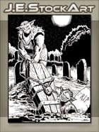 JEStockArt - Fantasy - Bugbears Stealing Locked Casket - IWB