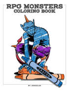 RPG Monsters A-Z Coloring Book by Jeshields
